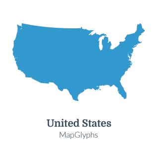 MapGlyphs Dots - United States | Map Glyphs
