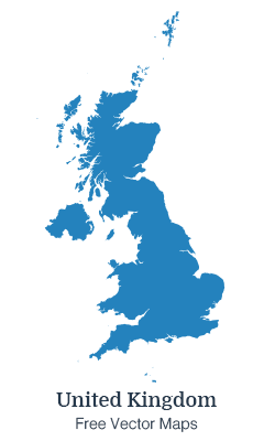 UK Map - Free Vector Maps