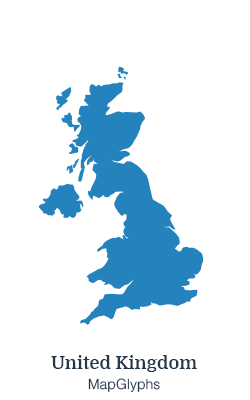 UK Map - Map Glyphs